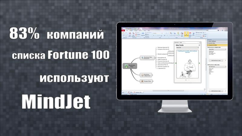 83% компаний списка Fortune 100 используют MindJet