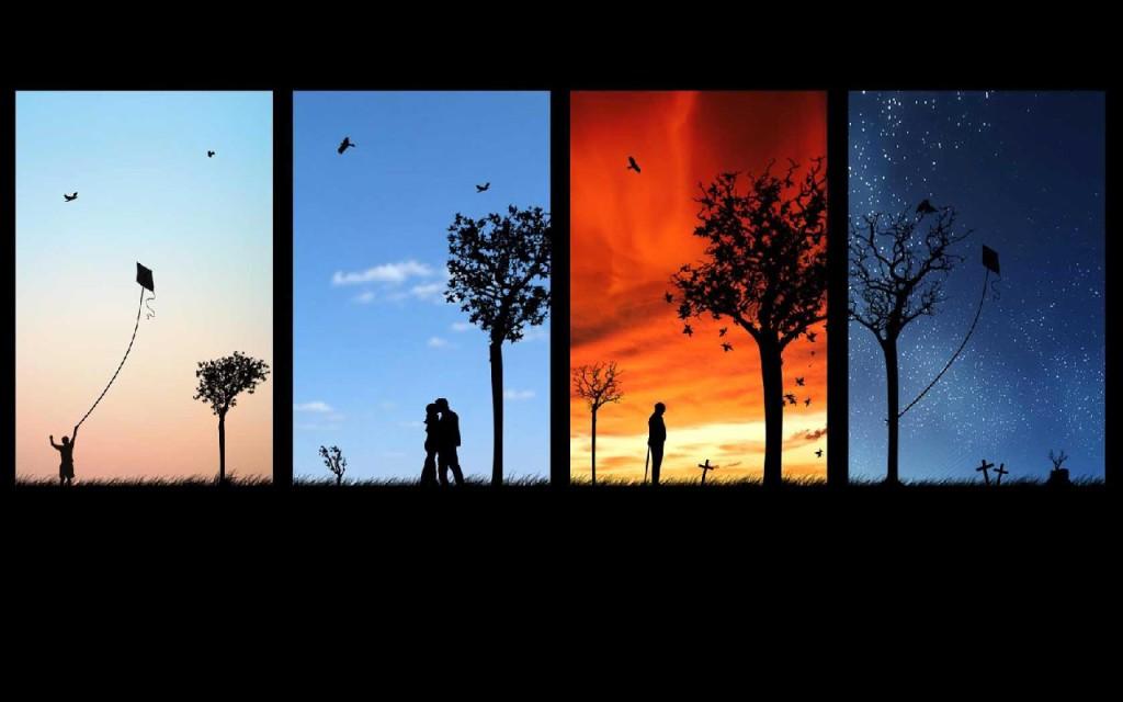Циклы жизни человека: рассвет, полдень, закат и сумерки.